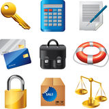 Business icons detailed  set. Business and finance icons detailed  set Royalty Free Stock Photo