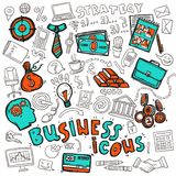 Business icons doodle sketch Stock Photo