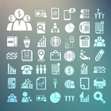 Business icons and Finance icons Set on Retina background Royalty Free Stock Images