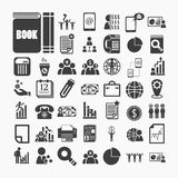 Business icons and Finance icons  on  White paper .Illustration Stock Image
