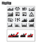 Business icons Finance stock trading icon vector Royalty Free Stock Photography