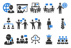 Business icons. Flat Design Vector Illustration: Business icons Royalty Free Stock Image