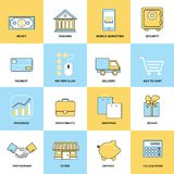 Business icons flat line set Stock Image