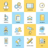 Business icons flat line set Stock Images