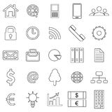 Business icons. Flat style finance icon Royalty Free Stock Photography