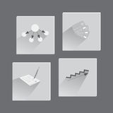 Business Icons in Flat Style. Suit for Web and Mobile Apps. Vector EPS 10 Stock Photography