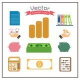 Business icons folder calculator Dollar set design web abacus Stock Image