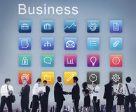 Business Icons Folder Profile Lightbulb Concept royalty free stock image