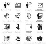 Collection of Business Icons - Set 4. Business icons, great for presentations, web design or any type of design projects Royalty Free Stock Images