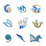 Business icons with horse and houses Royalty Free Stock Photos