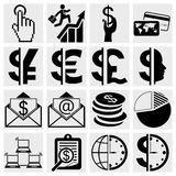 Business icons, human resource, finance, logistic  Stock Image