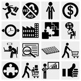 Business icons, human resource, finance, logistic  Stock Photos