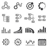 Business icons and Infographic Royalty Free Stock Images