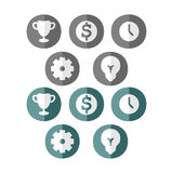 Business icons. For infographics. vector format Stock Images