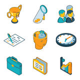 Business icons. Isometric 3d vector signs of Royalty Free Stock Photos