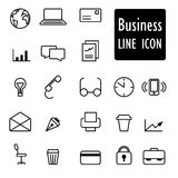 Business Icons linear abstract design Stock Photos