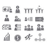 Business icons, management and human Stock Images