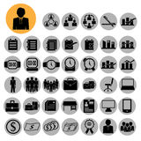 Business icons, management and human resources. Royalty Free Stock Photography
