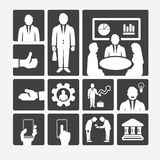 Business icons management and human resources. Flat design concept. Vector illustration Stock Image