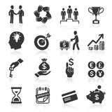 Business icons, management and human resources. Royalty Free Stock Images
