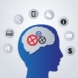 Business icons in my mind - vector Stock Photos