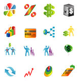 Business icons,  network marketing , bank card , balloon Stock Photo