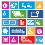 Business icons. Over white background vector illustration Royalty Free Stock Photos