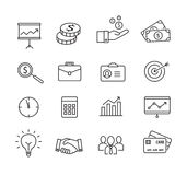 Business icons - productivity, management, thin lines style. Stock Images