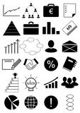 Business. Icons for business, profit and other financial activities Royalty Free Stock Photos