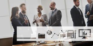 Business Icons Progress Report Concept Stock Photo