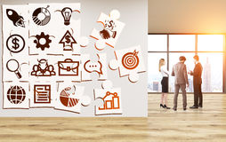 Business icons puzzle Stock Photography