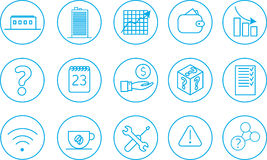 15 business icons. 15 ready for animation business icons stroke outline royalty free illustration