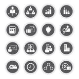 Business icons, round buttons Royalty Free Stock Photography