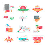 Business Icons for Sale and Discount Promotion Set Stock Photo