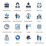Business Icons Set 1 - Blue Series Stock Images