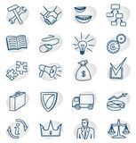 Business icons set. Vector icons divisions and departments of the company Stock Photography