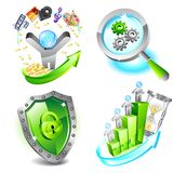 Business icons set. This is file of EPS10 format Royalty Free Stock Images