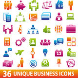 36 Business icons. Set of 36 business icons Royalty Free Stock Photography