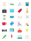 Business  icons set. Set of 24 business  icons Royalty Free Stock Photo
