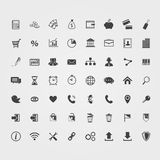 Business icons set. Big black Business icons set on a white background Royalty Free Stock Photo