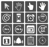 Business icons set. On black Royalty Free Stock Photography