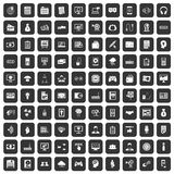 100 IT business icons set black. 100 IT business icons set in black color isolated vector illustration vector illustration