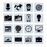 Business Icons Set Black Royalty Free Stock Photography