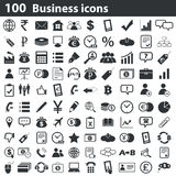 100 business icons set. Black, on white background Royalty Free Illustration