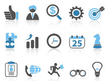 Business icons set,blue series Royalty Free Stock Images