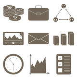 Business icons set for business, finance. Royalty Free Stock Image
