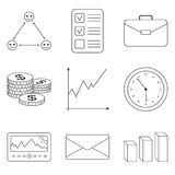 Business icons set for business, finance. Stock Photography