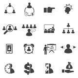 Business icons set, Business people Stock Photography