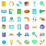 It business icons set, cartoon style. It business icons set. Cartoon style of 36 it business vector icons for web isolated on white background Stock Images