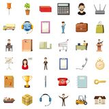 Business icons set, cartoon style. Business icons set. Cartoon style of 36 business vector icons for web isolated on white background Royalty Free Stock Photo